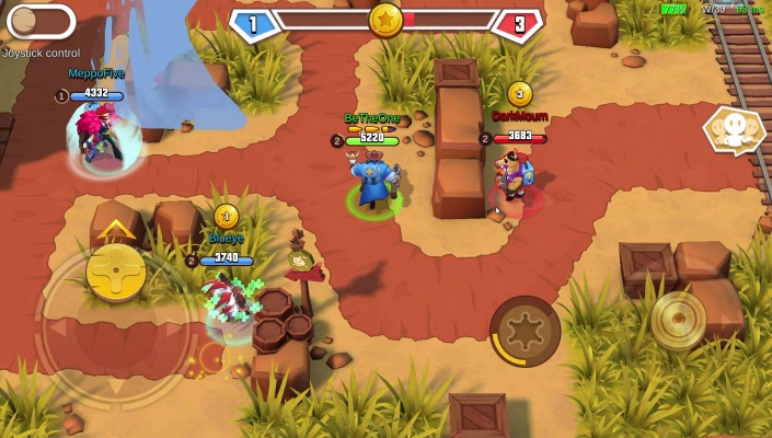 West Legends 3V3 MOBA is a Free Android , Action MOBA Mobile Multiplayer  Game where you can become a hero of the Wild West .