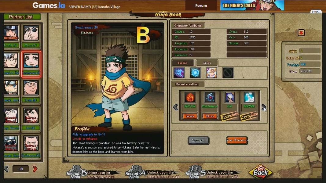 naruto online browsergame