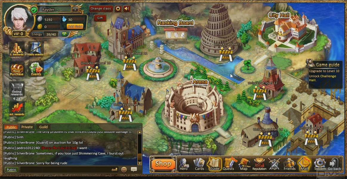 Online mmorpg trading card game