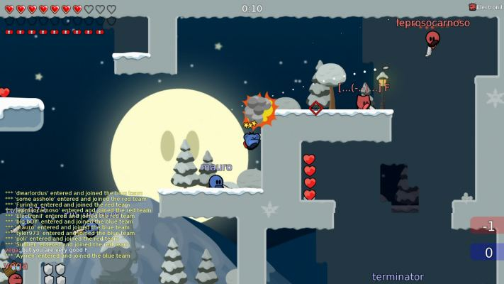 Teeworlds and the best thing its open source anyone can help to develop this game create new game types skins or brand new maps via the built in map editor gumiabroncs Gallery