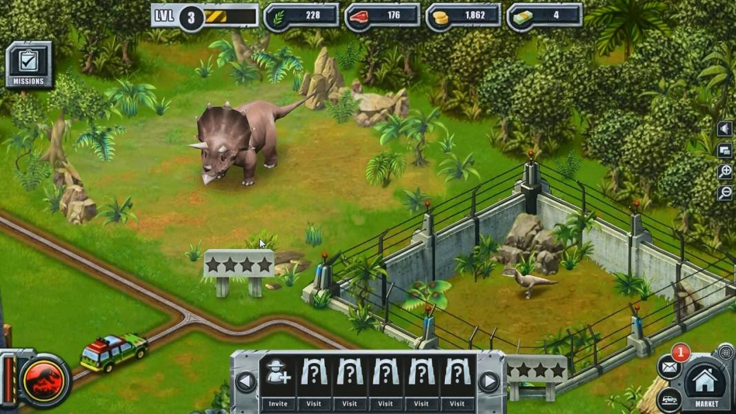 jurassic park builder game free play