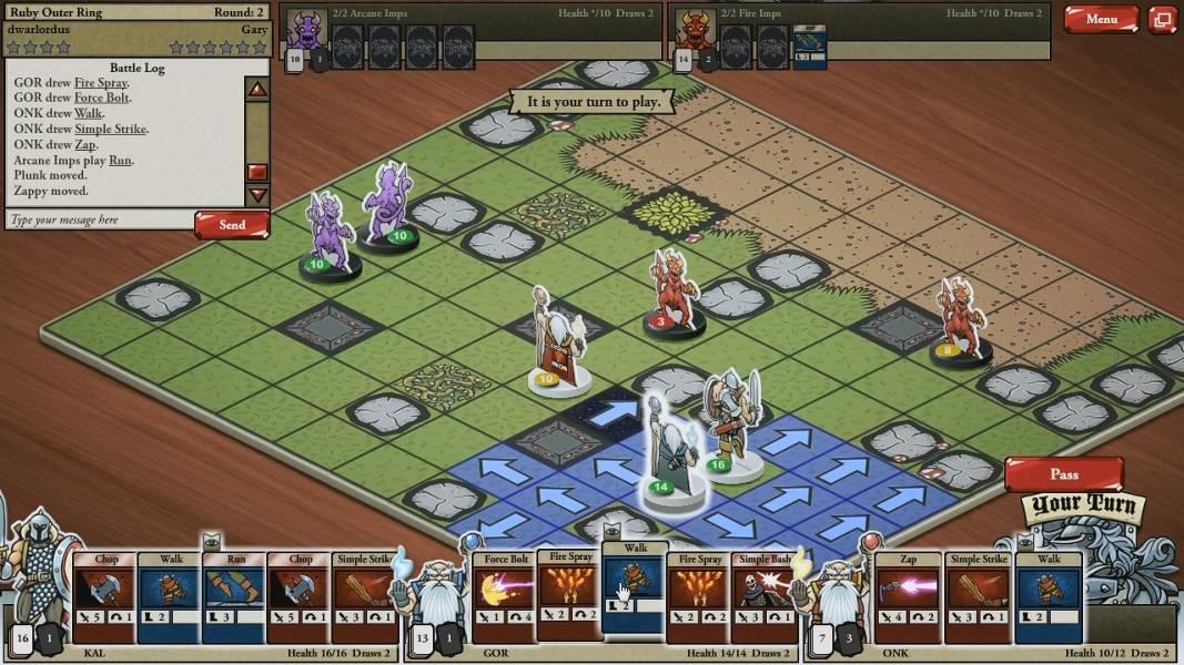 online trading card game browser based